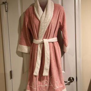 American Girl Pink & White Robe